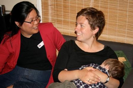 Leader and nursing mother